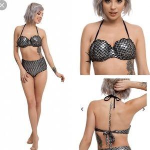 🎁🆕️ NWT Silver & Black Mermaid Swim Suit Bottoms